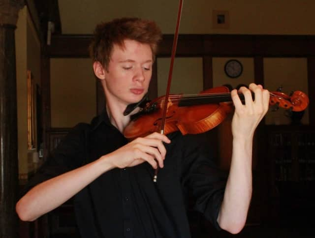 Stratford violinist Cameron Chase will be the first soloist in a new Fairfield concert series.
