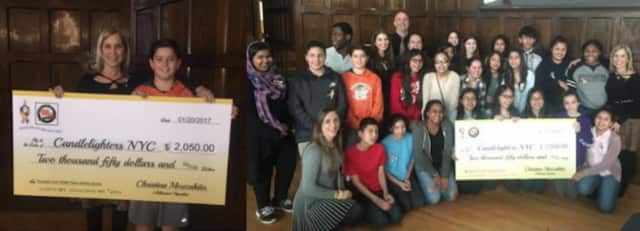 Students from Highlands Middle School raised more than $2,000 for Candlelighters NYC during their third annual Milk Carton Drive.