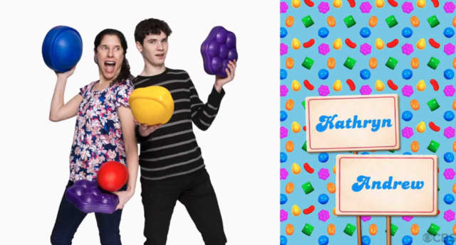 """Kathryn Kitt and her son Andrew will be appearing on """"Candy Crush."""""""