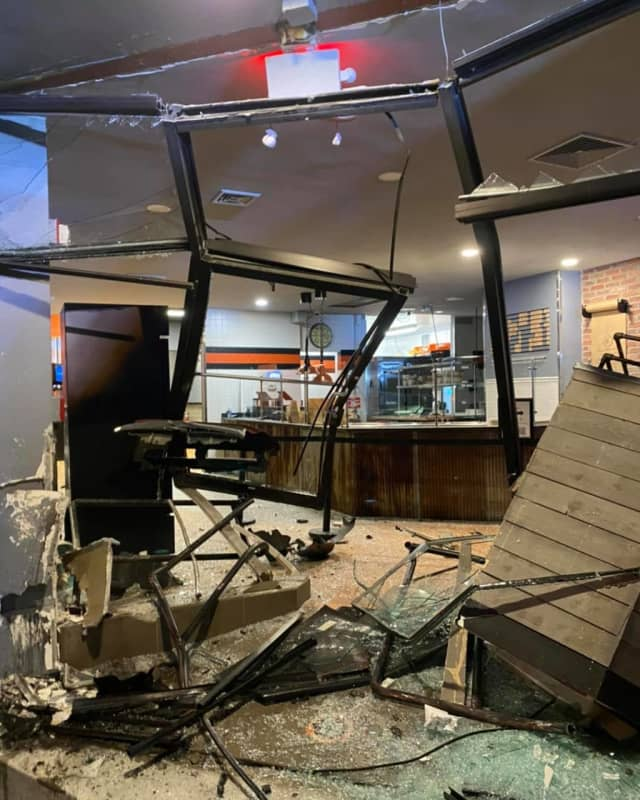 A photo of the wreckage posted on the restaurant's Facebook page.