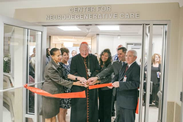 Cardinal Timothy Dolan participated in the ribbon cutting for Ferncliff's new Center for Neurodegenerative Care.