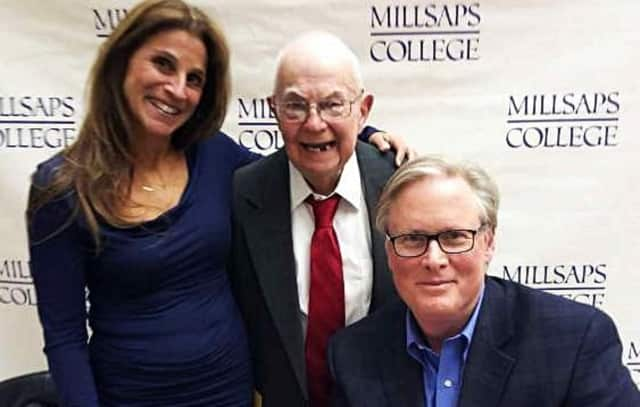 (from left to right) Caren Zucker; the first diagnosed person with autism, Donald Triplett; and John Donvan