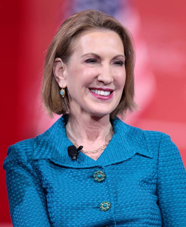 Republican presidential candidate Carly Fiorina tooks swipes at Chappaqua's Hillary Clinton during the undercard Republican debate earlier this week.