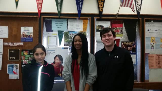 From left, Carmen Ochoa, Ja'liza Michaux and Matthew Smith.