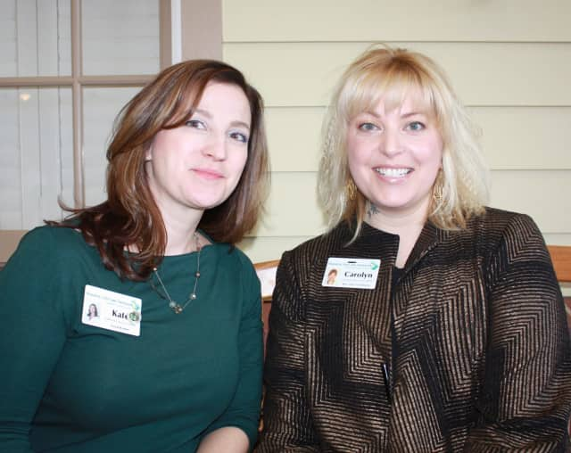 Kate Bacon, LMSW, Waveny social worker and Carolyn Antonion, LMSW, resident care coordinator.