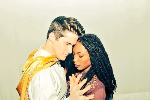 """Rob Ryan and Sierra Hunter are the leads in Old Library Theater's version of """"Aida."""""""