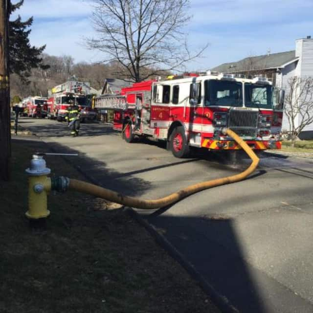 Greenwich fire crews fight a dryer fire at 31 Nicholas Ave. on Sunday, Feb. 28.