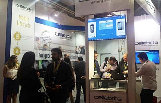 Cellebrite -- a company which may have assisted the FBI with the San Bernardino phone -- is often at tech fairs, promoting its technology.