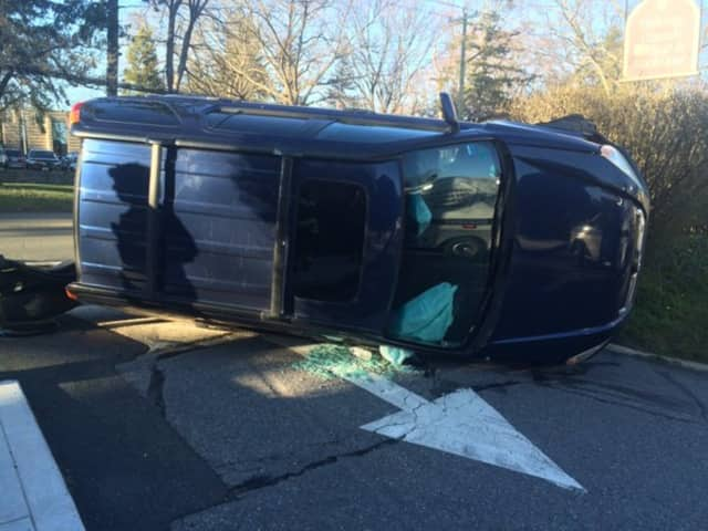 The Greenwich Fire Department responded Tuesday, March 29, to a one-vehicle roll-over crash on East Putnam Avenue.