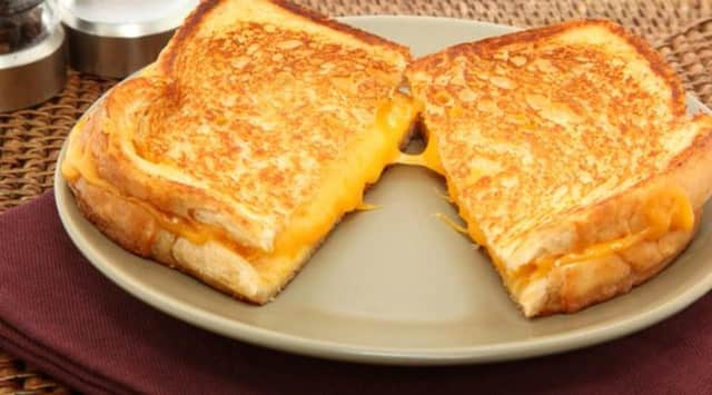 Grilled cheese is an American favorite.
