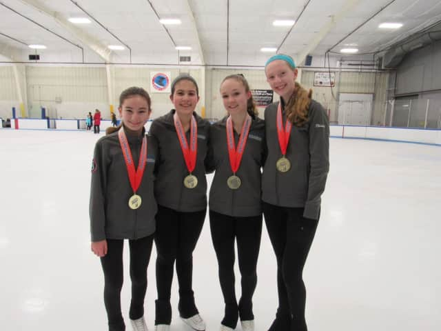NATIONAL CHAMPS - From L: Allison Bray (Seven Bridges Middle School), Lauren Sallay (Kennedy Catholic HS), Emmy Sloan  (Greeley High School), and Rhianna Gold (Greeley HS).