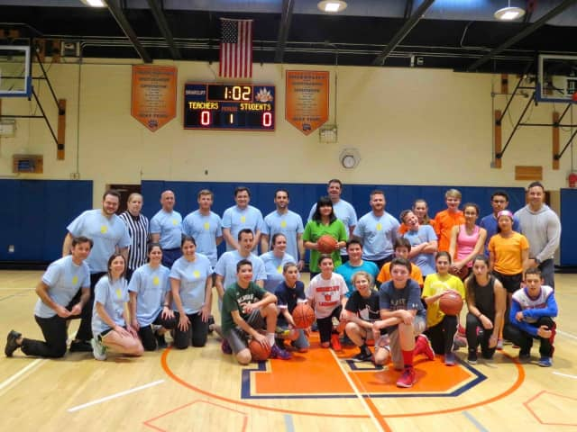 The participants of the Charity Basketball Game
