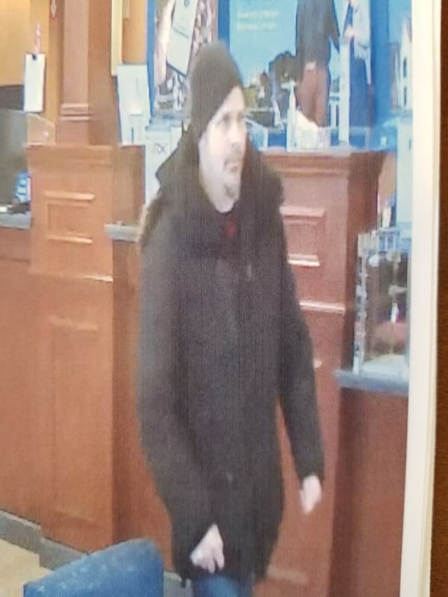 A person of interest caught in a bank robbery that was caught on video surveillance is being questioned by Clarkstown Police.