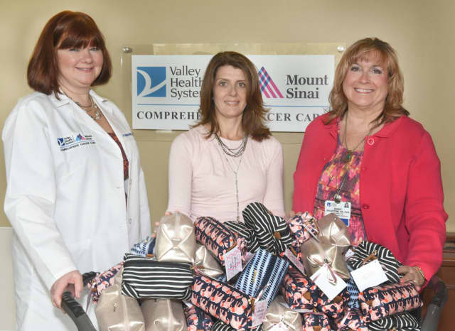 Valerie Quigley, manager at Valley's Infusion Center, Meg McCluskey and Sandy Balentine, director of Clinical Oncology at Valley-Mount Sinai Comprehensive Cancer Care.