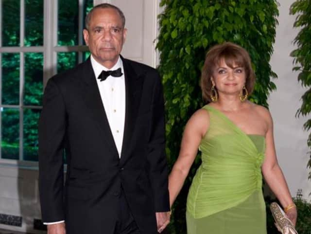 New Rochelle's Kenneth Chenault, shown with his wife, Kathryn, turns 65 on Thursday.