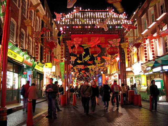 Ready for the Lunar New Year in London's Chinatown. Photograph by Oliver Spalt.