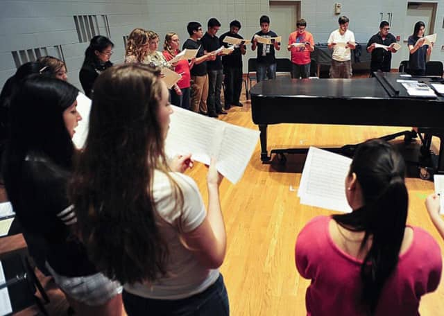 Ridgefield Memorial High School choir members auditioned and will participate in the 2015 - 2016 Bergen County Chorus.