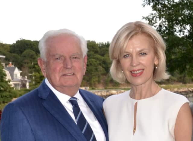 Christian and Eva Trefz have donated $1 million to the Westport Library Transformation Project.