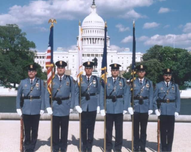 Today's Throwback Thursday from the Clarkstown Police Department features a photo of some officers from 15 years ago visiting the National Police Memorial in Washington, D.C.