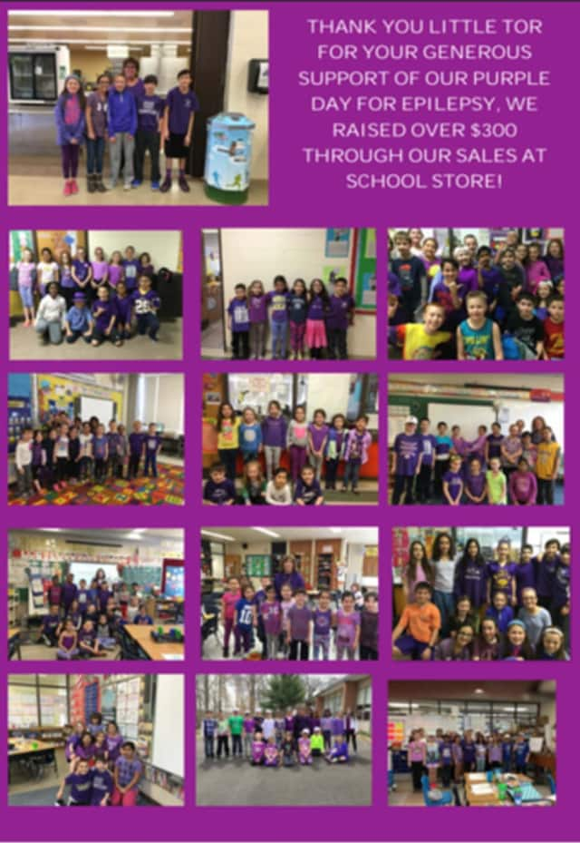 Little Tor Elementary School in Clarkstown held a Purple Day as part of a fundraiser for the Epilepsy Foundation.