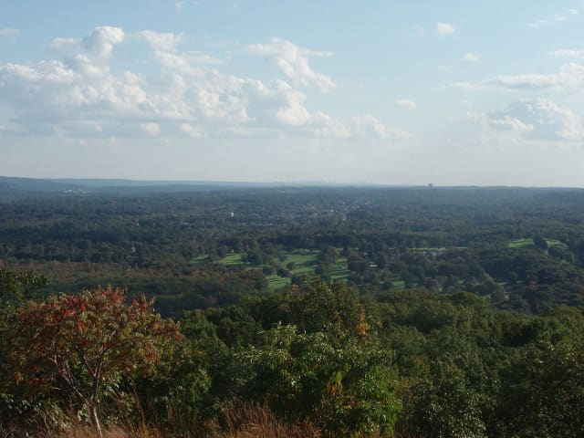 View of Clarkstown from High Tor Mountain