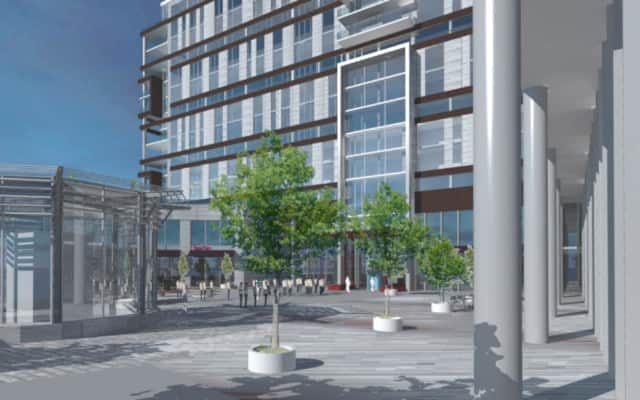 Construction of the long-in-development Cliffside Park Towne Center is finally progressing.