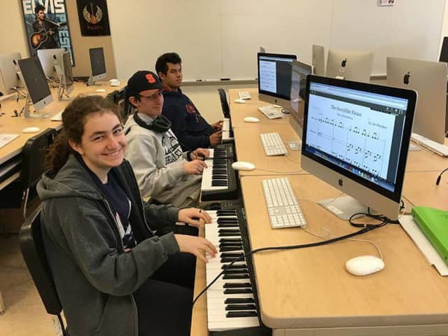 Briarcliff Manor students are using cloud-based music learning platform MusicFirst to compose and record music.