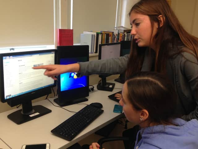 Students participate in coding session in Mamaroneck Public Schools.