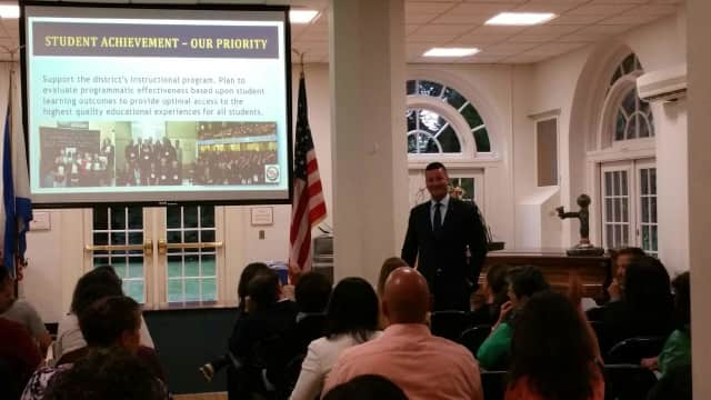 White Plains Superintendent Joseph Ricca hosted a Coffee and Conversation.