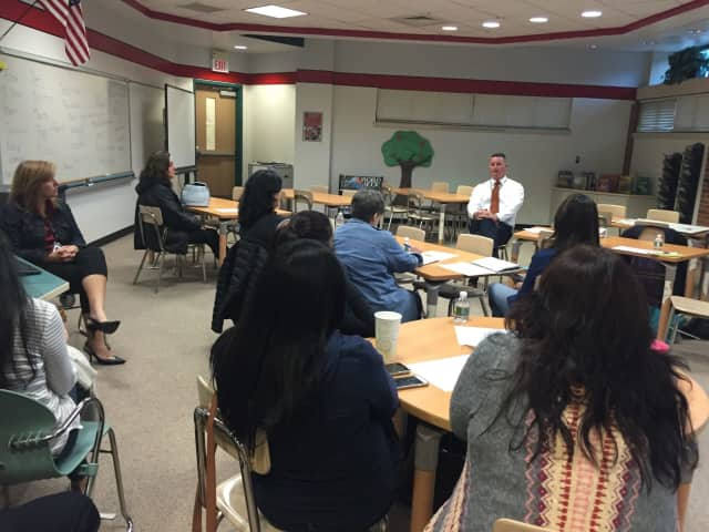 Superintendent Joseph Ricca had a coffee and conversation with parents