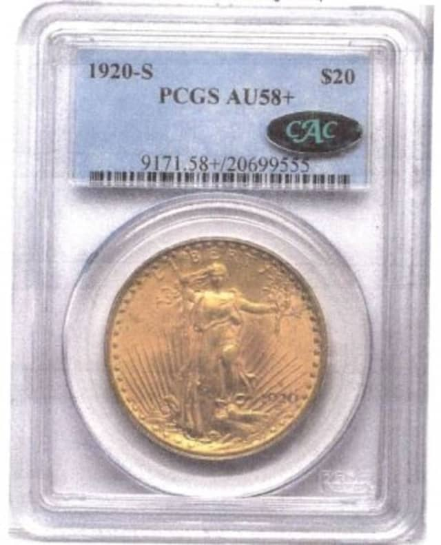 One of the stolen gold coins.