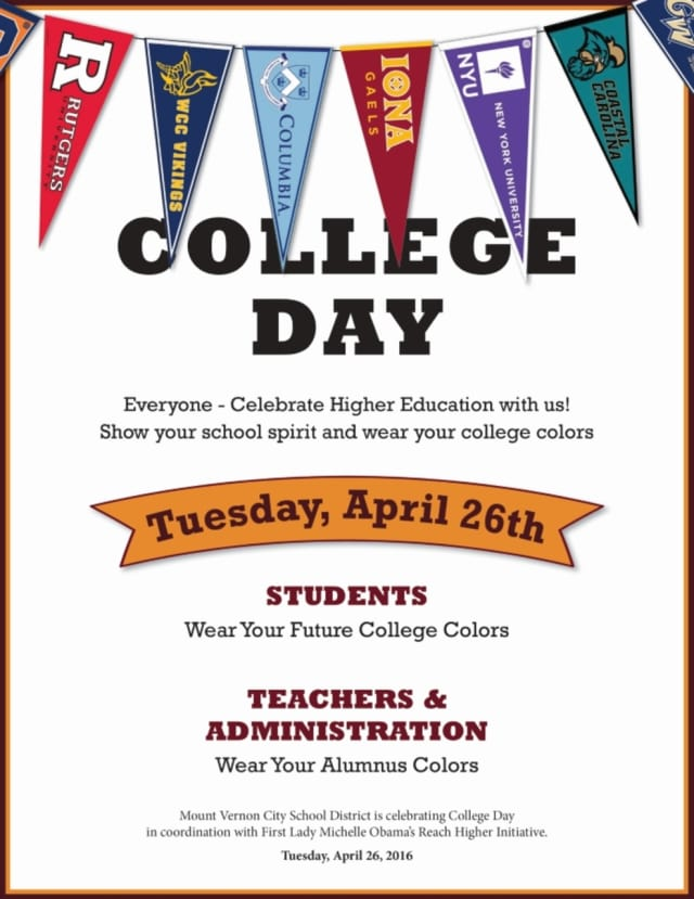Mount Vernon Schools are observing college day.