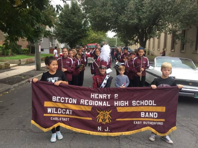 The Becton Regional High School Marching Band participated in the annual Columbus Day parade in East Rutherford.