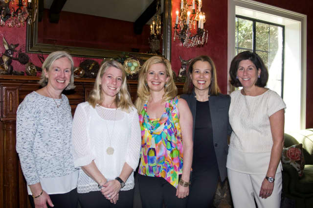 "The ""Party on Post"" committee, left to right: Tammy Sload, Allegra Erickson, Tara Ochman, Alex Eising, and Sue Weaver."