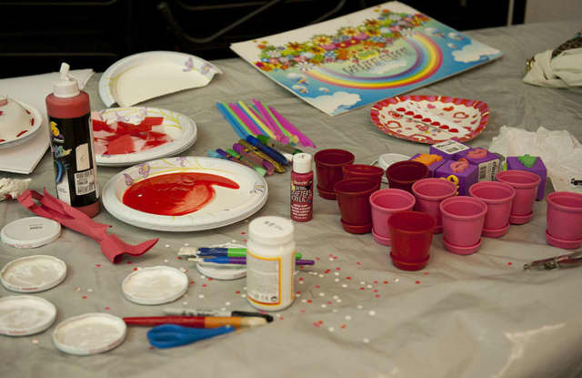 Children ages 5 and up can take part in making a Valentine's Day craft.
