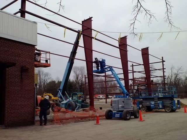 Construction under way for renovations at the Jewish Community Center on the Hudson.