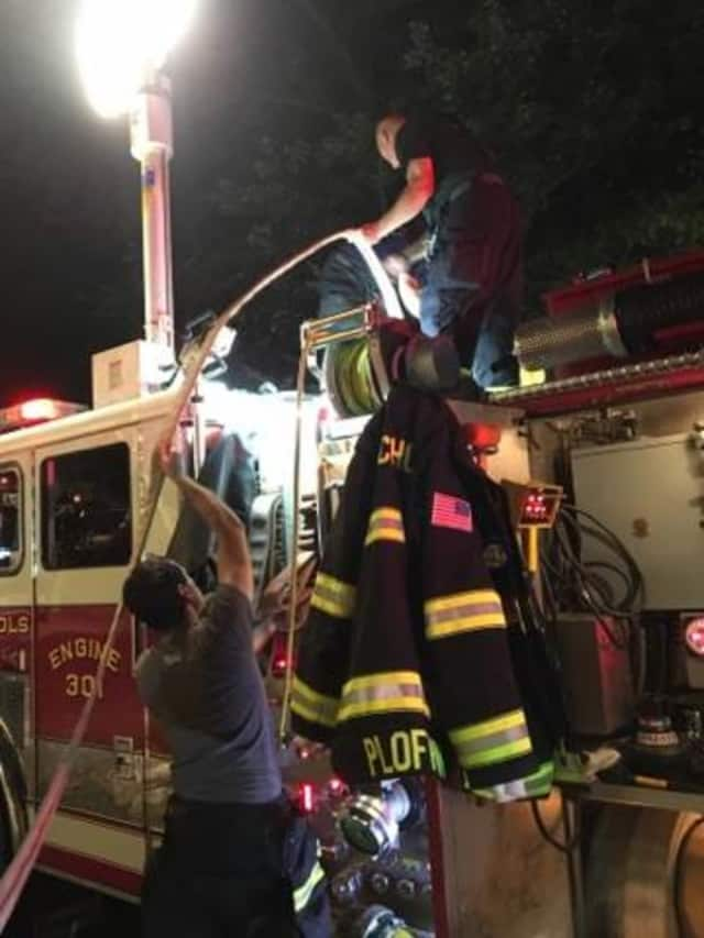 Nichols firefighters knocked down a basement fire at a home on Green Ridge Road on Wednesday.