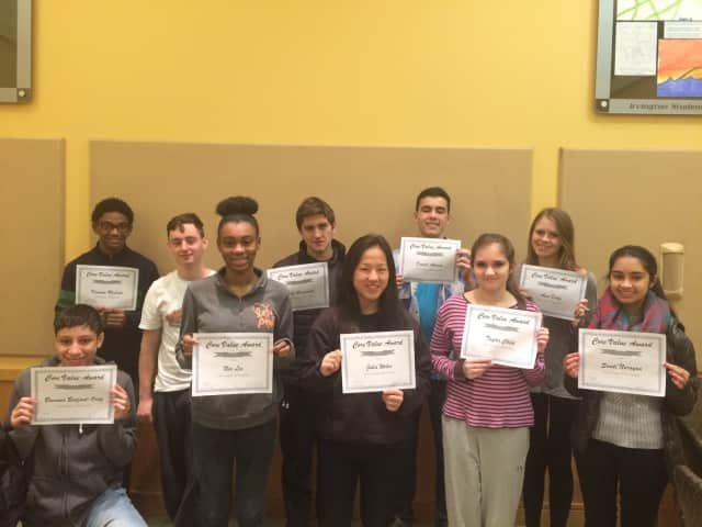 Irvington High School students have been recognized by the Irvington Union Free School District for demonstrating perseverance in their classrooms and extracurricular activities.