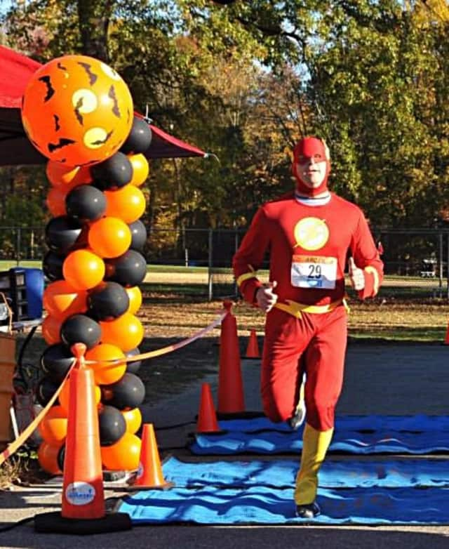 "Costumes are encouraged -- but not required -- for the event. ""The Flash"" appeared in the 2013 race."