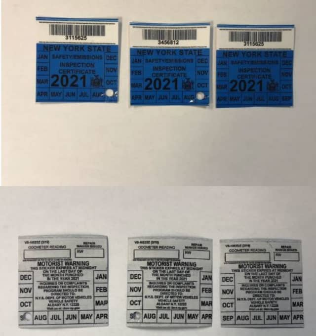 Counterfeit inspection tickets advertised on Facebook marketplace by Luis Pina-Perez of Tarrytown