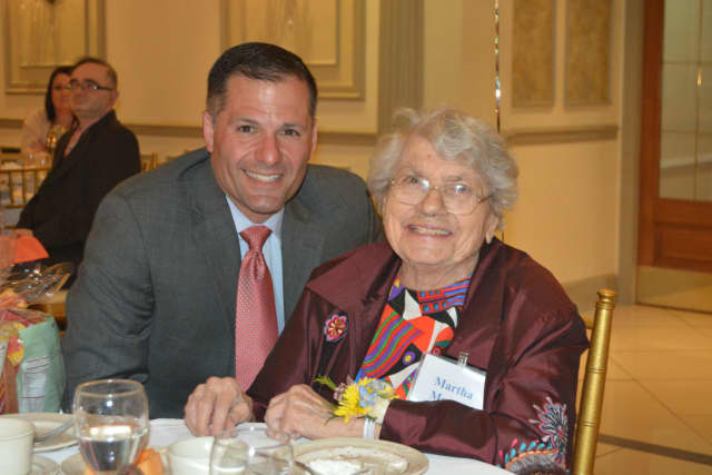 Marc Molinaro with Martha Mercer, who recently turned 100.