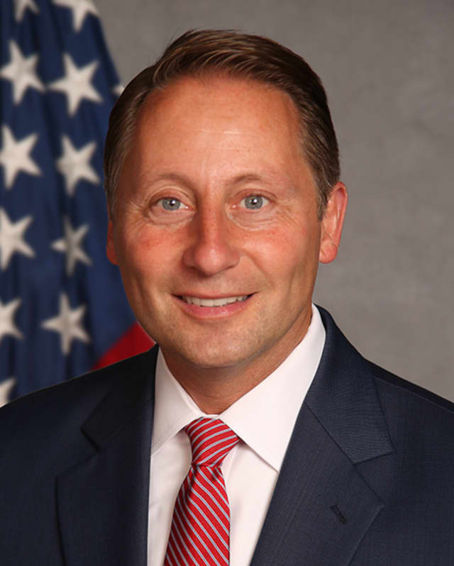 County Executive Rob Astorino welcomed aviation industry representatives to the airport last week.