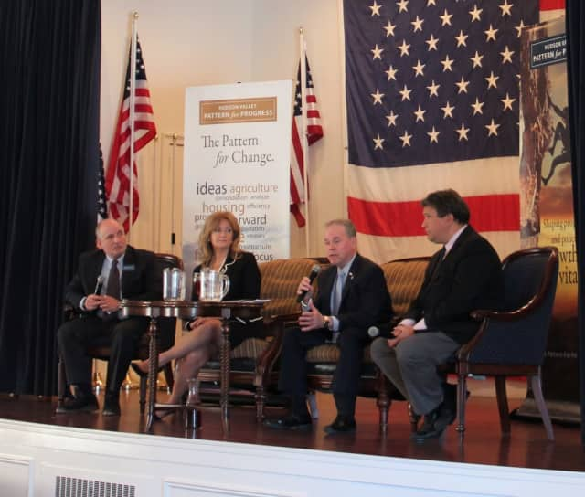 From left, Pattern for Progress President & CEO Jonathan Drapkin, Putnam County Executive MaryEllen Odell, Rockland County Executive Ed Day and Westchester County Executive George Latimer.