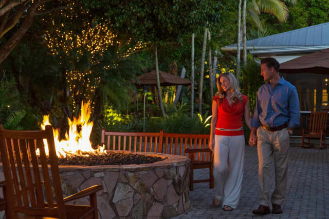The couple firepit is ideal for making S'Mores – or something a bit more romantic at the Hyatt Regency Coconut Point Resort and Spa.