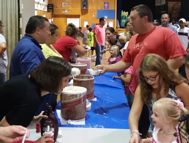 Cranbury Elementary School celebrates being back to school with an ice cream social Thursday night.