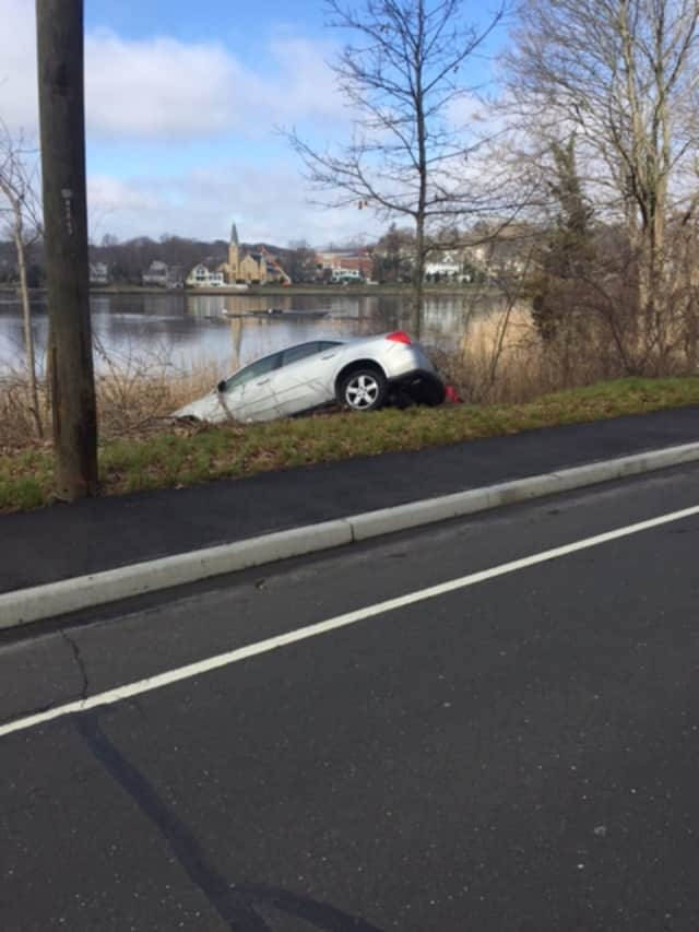 The suspect crashed his car on Imperial Avenue near the river, police said.