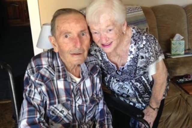 Flowers were stolen from the grave of Ronald Croci, a Rockland Army vet who passed away last March. He is shown in a family photo with his wife, Bernadette.