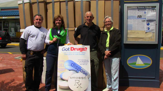 Croton-on-Hudson received a record number of drugs during their semi-annual drug take back event.