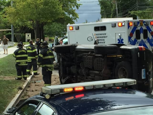 Greenwich police, fire and EMS are on the scene of a rollover car crash on Tuesday afternoon.