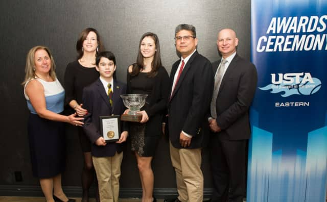 """The Cruz family of New Rochelle was named """"Tennis Family of the Year"""" by the United States Tennis Association."""